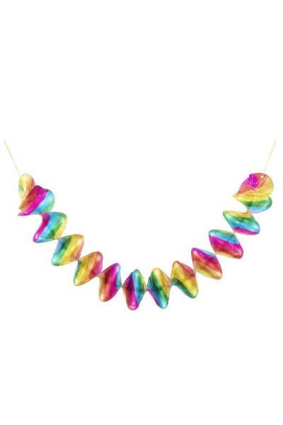 """Spiralgirlanden """"Regenbogen"""" aus Alufolie, Ø 8 cm, 60 cm, 4 Stk."""