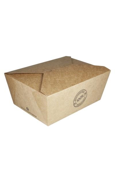 BIO Take-Away Boxen aus Karton, 22.5x16.9x9cm, 25 Stk.