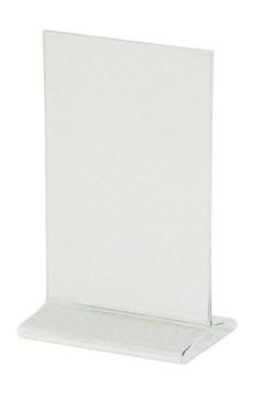 """Tischaufsteller """"T-Ständer"""" aus Acrylglas, A5, 1 Stk."""