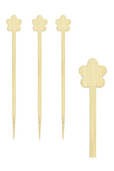 """Picker """"Blume"""" aus Bambus, 9cm, 200 Stk."""