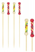 "Fingerfood Spieße ""String"" aus Bambus, 12cm, 200 Stk."