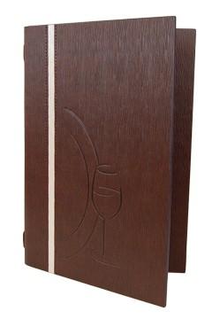 """Speisekarte """"Elegance"""", A5, braun, 8 Seiten, 1 Stk."""