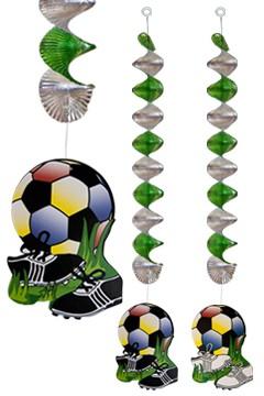 """Spiralgirlande """"Fußball"""", 55cm, 4 Stk."""