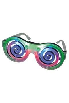 "Partybrille ""Spirale"" mit LED, 1 Stk."