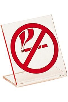 """Tischaufsteller """"Rauchen verboten"""" aus Acrylglas, 7.5x8cm, 5 Stk."""