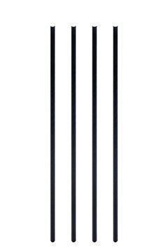Trinkhalme aus Papier, dick, schwarz, Ø8mm, 25cm, 150 Stk.