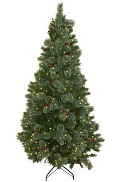Weihnachtsbaum, mit 400 LEDs und Dekor, ca. 213cm, 1 Stk.