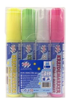 Kreidemarker 4 Farben gemischt, Schreibbreite 3-15mm, 4 Stk.