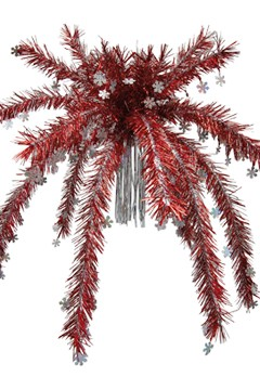 Hängepalme, rot, ca.80cm