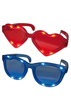 "Partybrille ""Big"" mit LED, 2 versch. Modelle, 1 Stk."