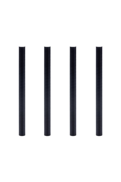 Trinkhalme aus Papier, dick, schwarz, Ø8mm, 11cm, 150 Stk.