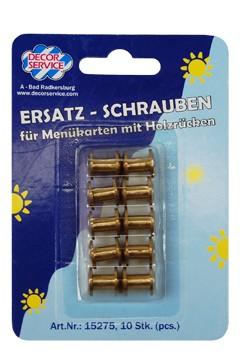 Ersatzschrauben für Speisekarten, Ø10mm, 10 Stk.