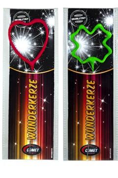 "Wunderkerzen ""Herz/Kleeblatt"", 17 cm, 1Stk."