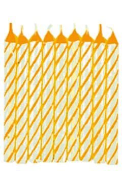 Geburtstagskerzen, gelb, 6cm 144 Stk.