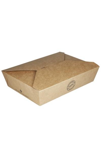 BIO Take-Away Boxen aus Karton, 21.6x16x6.4cm, 25 Stk.