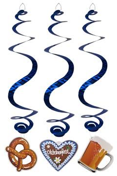 """Spiralgirlanden """"Oktoberfest"""" aus Papier, 70cm, 3 Stk."""