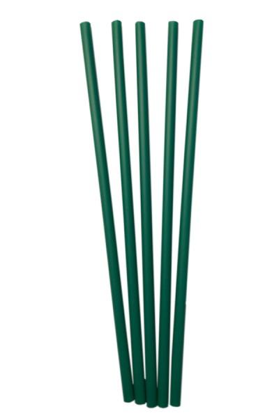 BIO Trinkhalme aus PLA, dunkelgrün, Ø6mm, 16cm, 150 Stk.