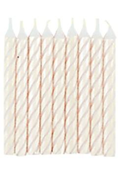 Geburtstagskerzen weiß, 6cm, 144 Stk.