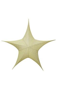 Stern aus Stoff, golden, faltbar, Ø 110 cm, 1 Stk.
