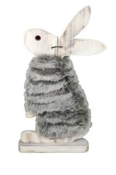 Hase mit Fell, aus Holz, 35cm, 1 Stk.