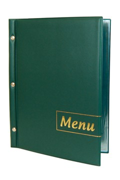 "Speisekarte (PVC) ""Menu"" dunkelgrün, 8 Seiten, A4, 1 Stk."