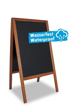 Gehweg-Kreidetafel, dunkelbraun, wasserfest, 61x118cm, 1 Stk.