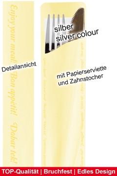 "Bestecksets ""Prestige"", silbern, ca. 20cm, 25 Sets, incl. Bestecktasche"