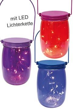 "Deko-Glas mit LED ""summernight"", ca. 16cm, 1 Stk."