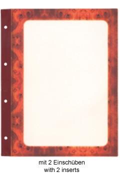 Folienblätter, wurzelholz, A4, 10 Stk.