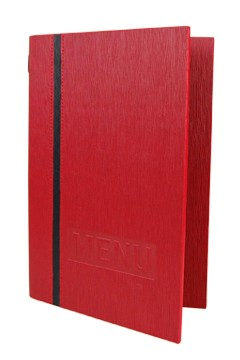 "Speisekarte ""Elegance"", A5, rot, 8 Seiten, 1 Stk."