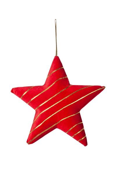 Stern aus Samt, rot, 28 cm