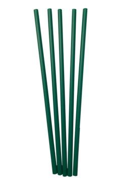 BIO Trinkhalme aus PLA, dunkelgrün, Ø6mm, 21cm, 150 Stk.
