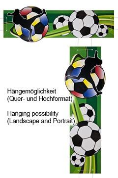 """Banner zum Hängen """"Fußball"""", aus Papier, 25x78cm, 1 Stk."""