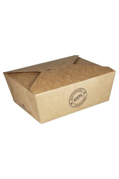 BIO Take-Away Boxen aus Karton, 21.5x15.9x4.8cm, 25 Stk.