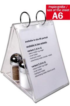 """Tischaufsteller """"4in1"""" aus Acrylglas, A6, 1 Stk."""