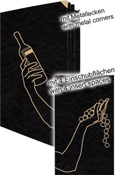 Weinkarte, A4, 4 Einschubflächen 1 Stk.