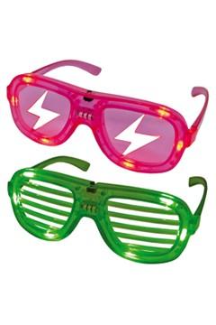 Partybrille mit LED, 2 versch. Modelle, 1 Stk.